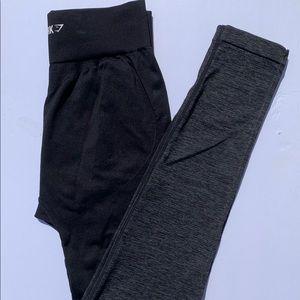 two tone high waisted gymshark leggings 🖤